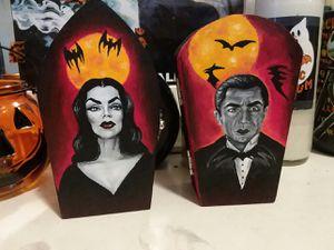 Vampira & Dracula painted boxes for Sale in Fontana, CA