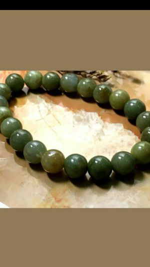"""10mmCertified Natural Grade A Jade Oil Blue green Jadeite Beads stretchy Bracelet 6.5""""-9.5"""" for Sale in Richmond, CA"""