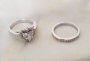 14K white gold diamond ring wedding set for Sale in Pico Rivera, CA