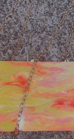 Acrylic Marble Hand Bag With Chain for Sale in Chandler,  AZ