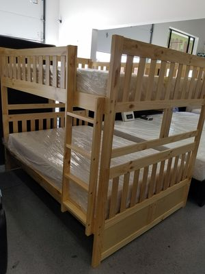 Pine Full over Full Bunk Bed for Sale in West Valley City, UT