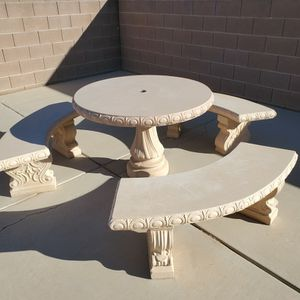 Outdoor Stone/Concrete Table Set for Sale in Las Vegas, NV