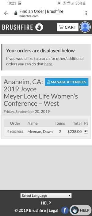Joyce Meyer Love Life Women's Conference tickets for Sale in Anaheim, CA