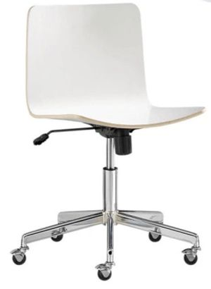 CB2 wood white office chair for Sale in Cambridge, MA
