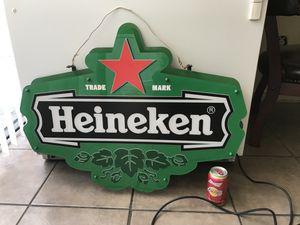 Heineken Lighted Beer Sign for Sale in Ontario, CA