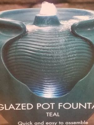 Essential Garden LED Pot Fountain Teal for Sale in Chelmsford, MA