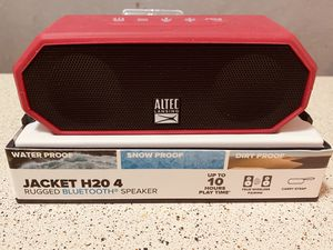 Altec Lansing -Jacket H20 4 Portable Bluetooth speaker. Red color. for Sale in Lewisville, TX