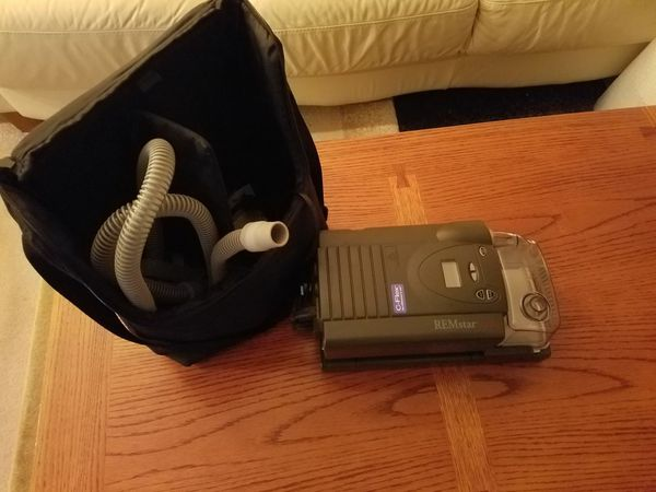 Cpap machine with case.