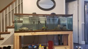 """135 Gallon Fish Tank w/ handbuilt stand. L 72 1/8"""" W 18 3/8"""" H 22"""" for Sale in Baltimore, MD"""