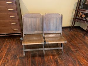 Vintage double slated folding seats for Sale in San Diego, CA