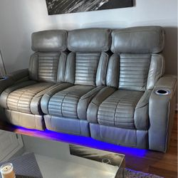Real leather reclining electric couches for Sale in Columbus,  OH