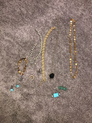 Bag of jewelry Necklaces,earrings, bracelets for Sale in South Euclid, OH