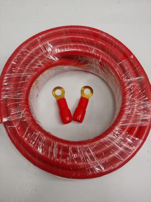Car audio accessories : 4 gauge 25 feet CCA high performance power cable ring terminals for Sale in Bell Gardens, CA