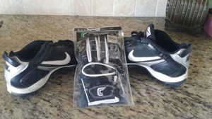 Nike Cleats and brand new gloves for Sale in Westminster, CA