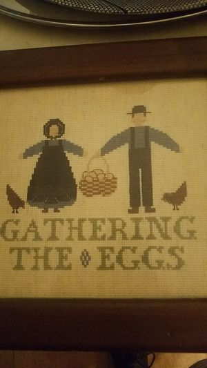 Gathering The Eggs Country Artwork Needlepoint for Sale in New Freedom, PA