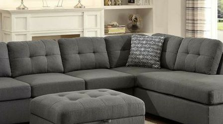 NEW Modern Grey Fabric Sectional Sofa with Reversible Chaise for Sale in King of Prussia,  PA