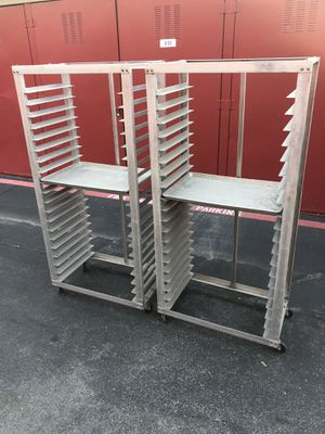 2 Used Full Size Sheet Pan Rack 4 Low, Low Price 💰$60‼️ for Sale in Dallas, TX