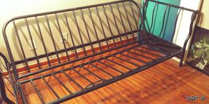 Beautiful Black Metal Futon Frame/Daybed with 1940's Vintage Style Accents for Sale in Decatur, GA