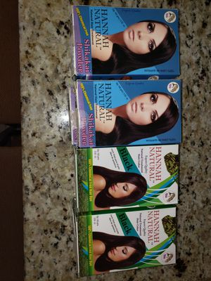 4 Henna black hair color boxes and 4 Henna natural hair treatment boxes for Sale in Scottsdale, AZ
