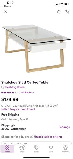 Snatched Sled Coffee Table (natural wood) for Sale in Arlington,  VA