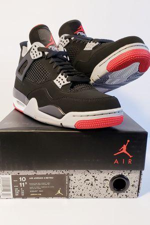 Jordan 4 IV Retro OG Bred Black Cement Size 10 Mens/11.5Wmns for Sale in Miami, FL