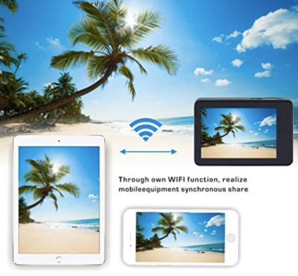 ESTEP Smart Android 2.4'' Touchscreen 12MP Ultra HD 1080P Waterproof 170° Wide-angle Wifi Sports DV Action Camera