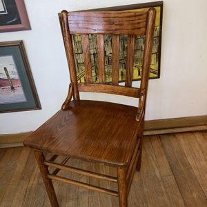 4 Antique Oak Cafe Chairs/Excellent! for Sale in Houston, TX