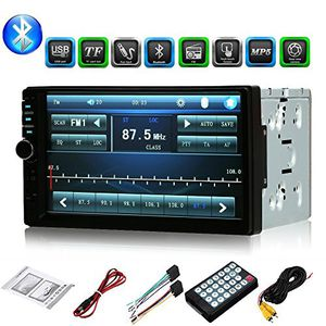 7 Inch car radio 2 din HD Bluetooth car stereo receiver MP3 MP5 player for car with rear bluetooth car dvd view camera and digital touch screen displ for Sale in Casselberry, FL