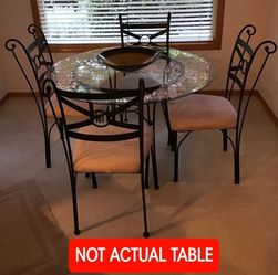 Free Glass & Wrought Iron Dining Table Set (PENDING) for Sale in Gresham,  OR
