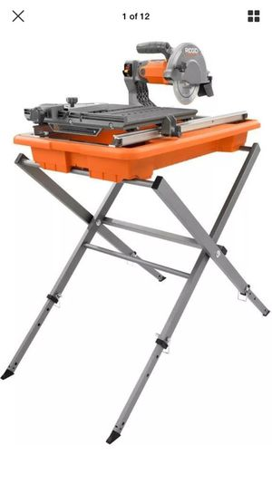 Rigid 7in wet tile saw for Sale in Detroit, MI