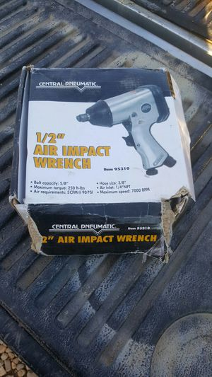 Central pandemic 1 and 1/2 inch air impact wrench for Sale in Avondale, AZ