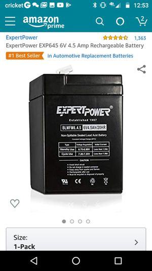 ***BRAND NEW & NEVER EVEN UNPACKAGED***6 volt battery (for ride on toys, scooters, lanterns & etc...) for Sale in Glendale, AZ
