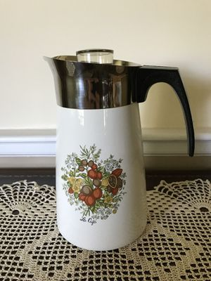 Le Cafe Corning Ware 10 Cup Percolater- P-149-8 VINTAGE for Sale in Westfield, NJ