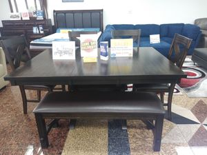 Thanksgiving beautiful table with 4 chairs and 1 bench. for Sale in Tampa, FL