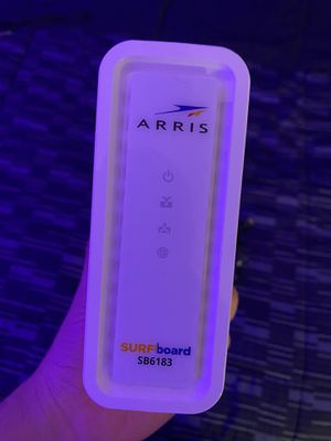 ARRIS - SURFboard 16 x 4 DOCSIS 3.0 Cable Modem - White for Sale in Copiague, NY