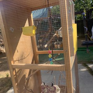 Tall Bird Cage On Wheels for Sale in Brea, CA