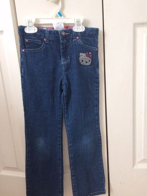 Girl size 6 Hello Kitty jeans for Sale in Hanover, MD