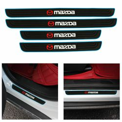BRAND NEW 4PCS MAZDA BLUE RUBBER DOOR SILL SCUFF UNIVERSAL for Sale in City of Industry,  CA