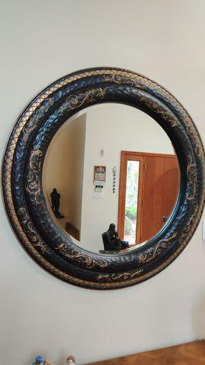 Rare beautiful wood round mirror for Sale in Marlboro Township, NJ