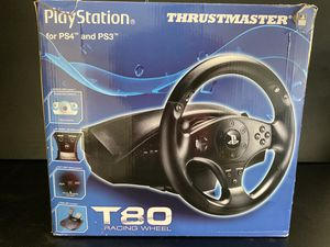 PlayStation THRUSTMASTER T80 Racing Wheel for PS4 and PS3 for Sale in Santee, CA