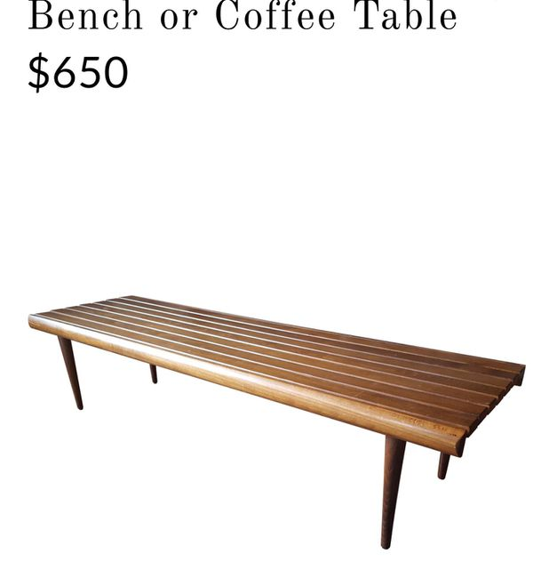 Wooden Slated Bench