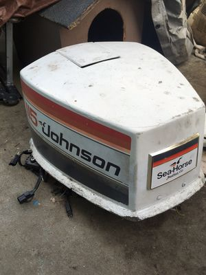 1997 Johnson 115 power head for parts many good parts, 1979 motor cover fits many years for Sale in Oakland, CA