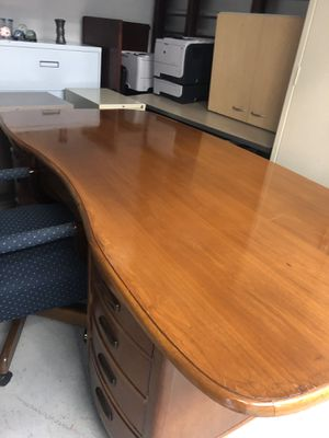 Very nice antique executive desk in good condition made of real wood for Sale in Raleigh, NC