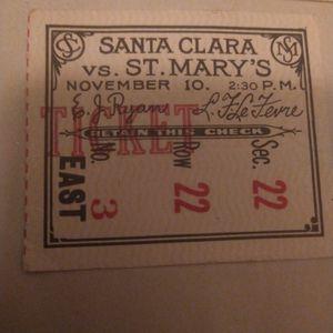 Santa Clara vs St.Mary's Nov 10 for Sale in San Francisco, CA