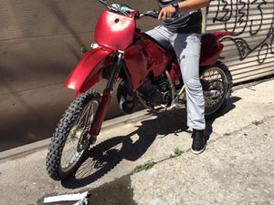 Yamaha 125 Dirt bike! Big body for sale or trade for 4wheeler for Sale in Chicago, IL