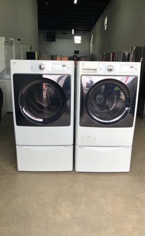 KENMORE WASHER AND DRYER WITH PEDESTAL (3 MONTHS WARRANTY) for Sale in Hialeah, FL