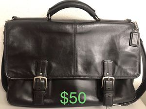 Black coach Laptop bag for Sale in La Habra Heights, CA