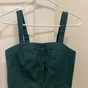 Green Cropped Button up Top for Sale in Hollywood, FL