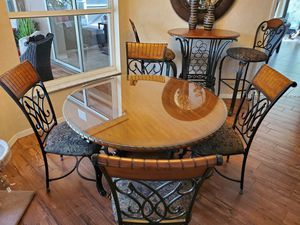 Dining Table w/ 4 Chairs, Pub Table w/ 2 Chairs & 4 Bar Chairs. for Sale in Tampa, FL