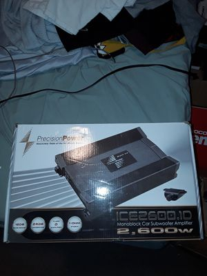 Precision Power ICE2600.1D Black Ice Series 2600W Class D Monoblock Amp for Sale in Leeds, AL